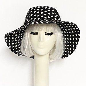 Polka Dot Black White Sun Hat